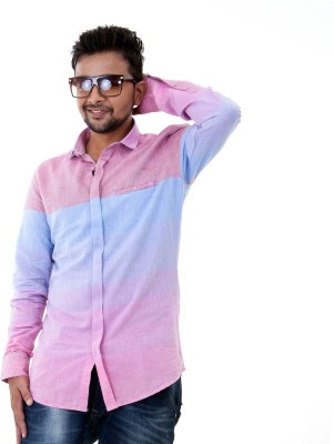 Passion Men's Checkered Casual Pink Shirt