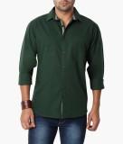 Suspense Men's Solid Casual Green Shirt