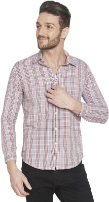 Globus Men's Checkered Casual Red Shirt