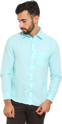 Classic Polo Men's Solid Formal Light Blue Shirt