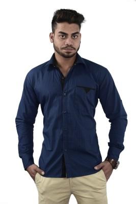 Your Desire Shirts Men's Checkered Casual Blue Shirt