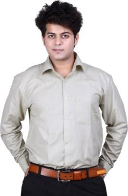 Ishin Designer Studio Men's Solid Casual Grey Shirt