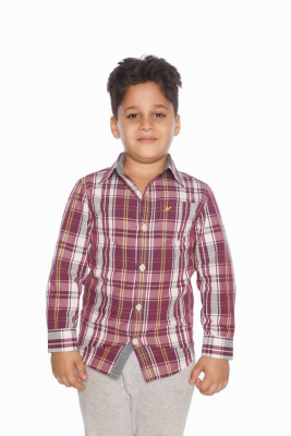 Daddy's Capes Boy's Checkered Casual Purple Shirt