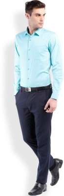 Royal Kurta Men's Solid Formal Light Blue Shirt