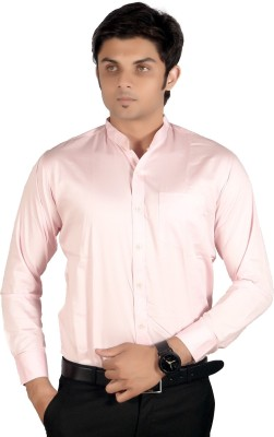 Proactive Men's Solid Formal Pink Shirt