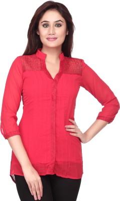 Goddess Women Women's Printed Casual Red Shirt
