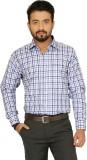 Indian Weller Men's Checkered Formal Blu...