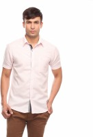 Jogur Formal Shirts (Men's) - Jogur Men's Solid Formal Linen Pink Shirt
