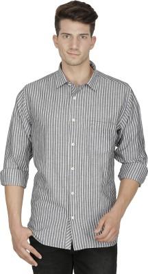 Kingswood Men's Striped Casual Grey Shirt