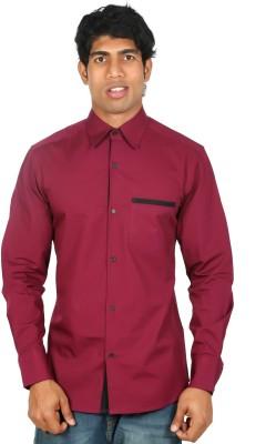 Nimya Men's Solid Casual Maroon Shirt