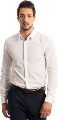 Specimen Men,s Solid Formal White Shirt