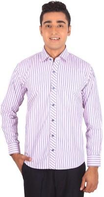 Henry Spark Men's Striped Formal Pink Shirt