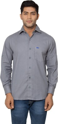 Nauhwar Men's Solid Formal Grey Shirt