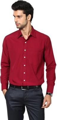 Shaftesbury London Men's Solid Casual Maroon Shirt