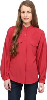 Rare Women,s Solid Casual Red Shirt