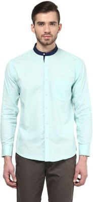 The Vanca Men's Solid Casual Green Shirt