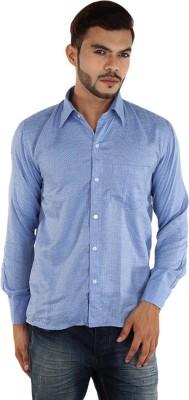 FDS Men,s Polka Print Casual Blue Shirt