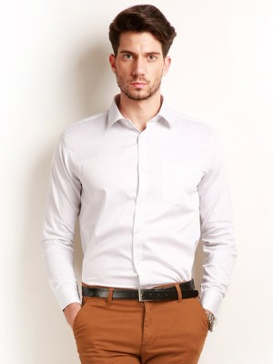 Change 360 Men's Checkered Casual White Shirt