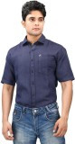 Relish Men's Solid Formal Dark Blue, Dar...