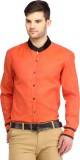 Spawn Men's Solid Casual Orange Shirt
