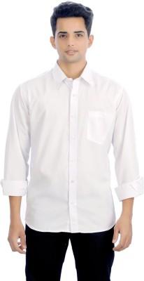 E Spark Men's Solid Casual White Shirt