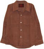 My Little Lambs Boys Solid Casual Brown ...
