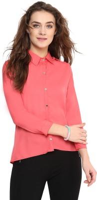 Uptownie Lite Women's Solid Casual Orange Shirt