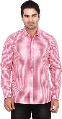 ANDY TRENDZ Men's Checkered Casual Red Shirt