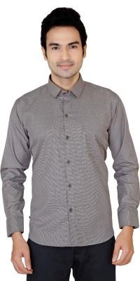 X-Secret Men's Solid Formal Grey Shirt