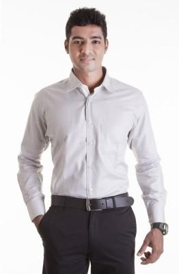 Sting Men,s Solid Formal Grey Shirt