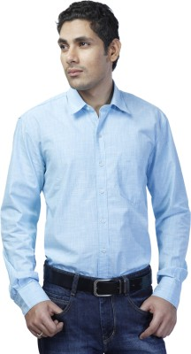 Spaky Men's Solid Casual Light Blue Shirt