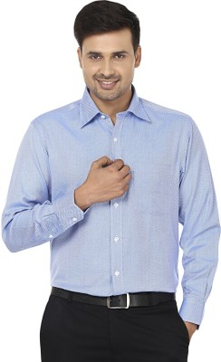 Wills Lifestyle Men's Solid Formal Blue Shirt