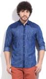 Killer Men's Printed Casual Blue Shirt