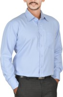 Scottish Club Formal Shirts (Men's) - Scottish Club Men's Solid Formal Light Blue Shirt
