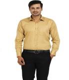 TT Men's Printed Formal Yellow Shirt