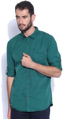 HRX by Hrithik Roshan Men's Solid Casual Blue Shirt