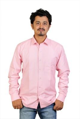 Egoist Men's Woven Formal, Wedding, Party Pink Shirt