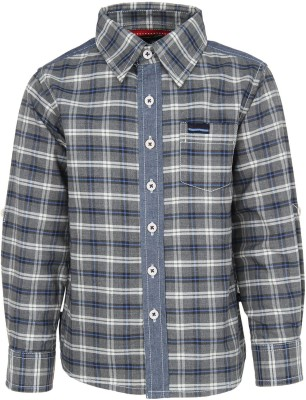 Bells and Whistles Boy's Solid Casual Grey Shirt