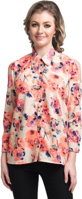 Uptownie Lite Women's Floral Print Casual Pink Shirt