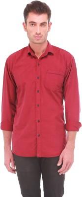 Sleek Line Men's Solid Casual Maroon Shirt
