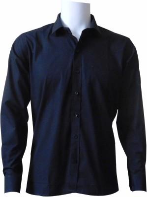 Ardeur Men's Striped Formal Black Shirt