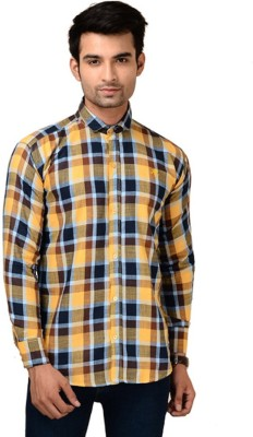 Brandvilla Men's Checkered Casual Multicolor Shirt
