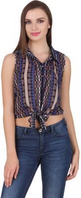 One Femme Women's Argyle Casual, Lounge Wear Multicolor Shirt