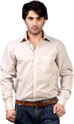 Hugo Chavez Men's Solid Formal Grey Shirt
