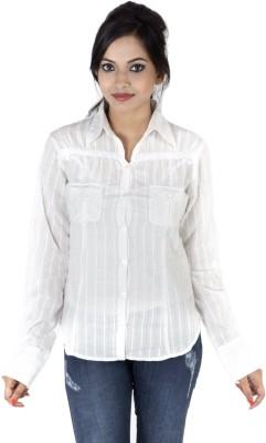 Kashana Fashions Women's Solid Casual White Shirt