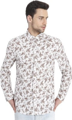 Jack & Jones Mens Printed Casual White Shirt