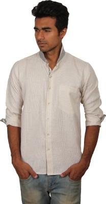 Brumax Men's Solid Casual Linen White, Grey Shirt