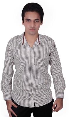 Elle Et Lui Men's Checkered Formal Black, White Shirt