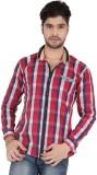Appollo Men's Checkered Casual Red Shirt
