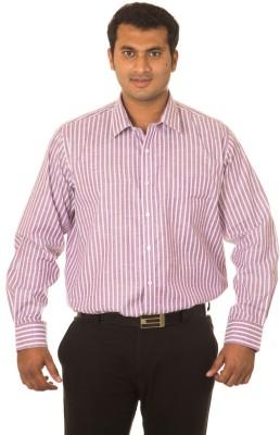 Nova Scottia Men's Striped Formal Purple Shirt